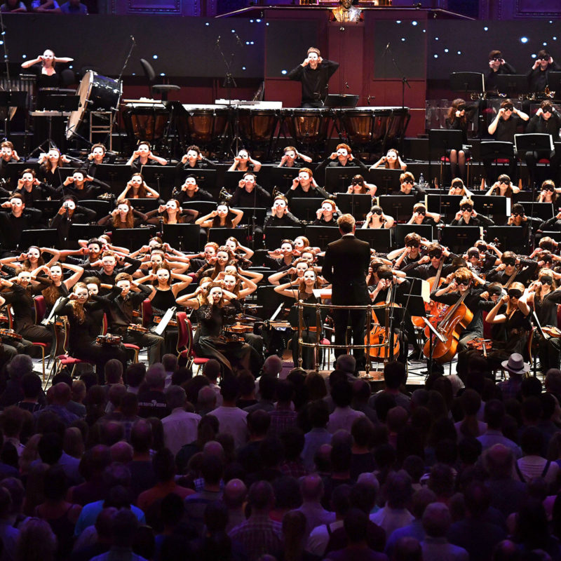 Prom 29: Iris ter Schiphorst 'Gravitational Waves' (London premier) and Richard Strauss 'Also sprach Zarathustra', performed by the National Youth Orchestra of Great Britain with Edward Gardner conducting, at the Royal Albert Hall on 6th August 2016.