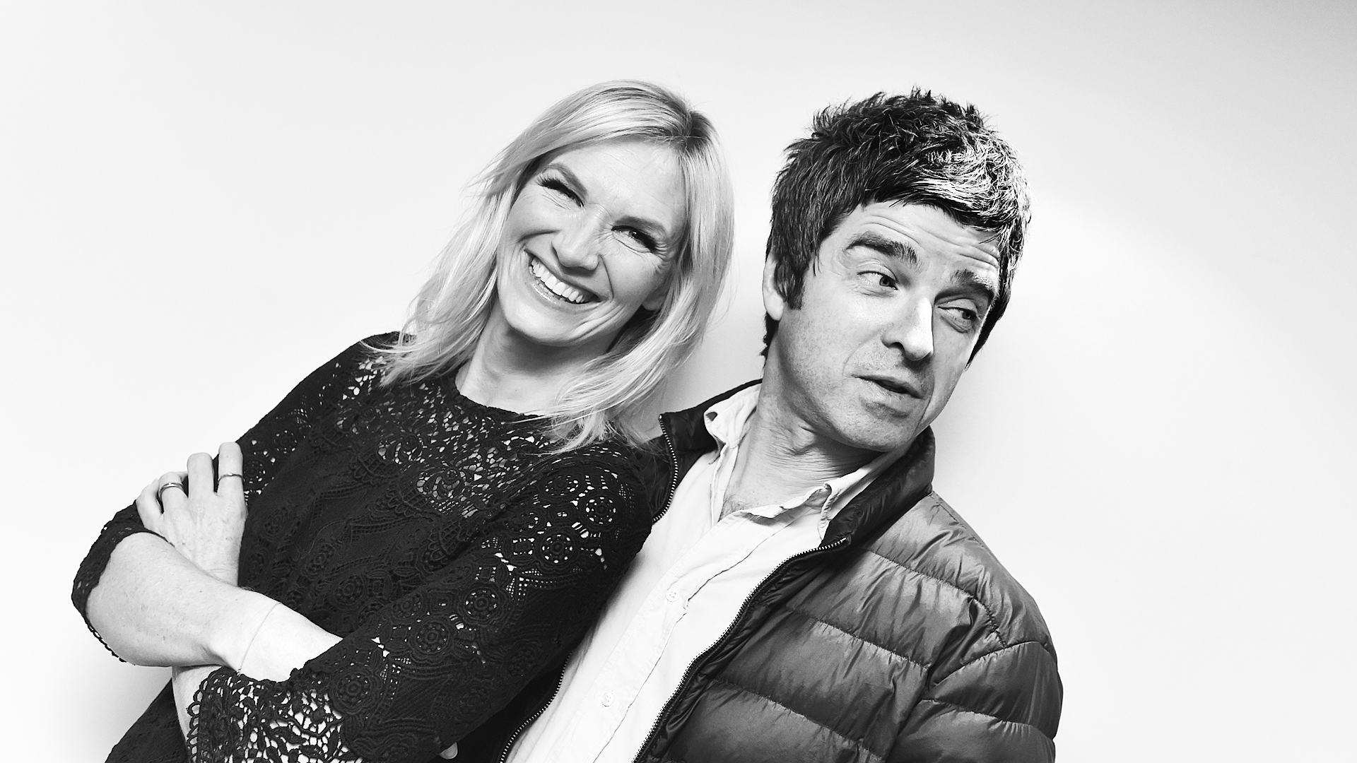Jo Whiley and Noel Gallagher for 'BBC Radio 2 In Concert', 2015. Photographer: Sarah Jeynes. © BBC.