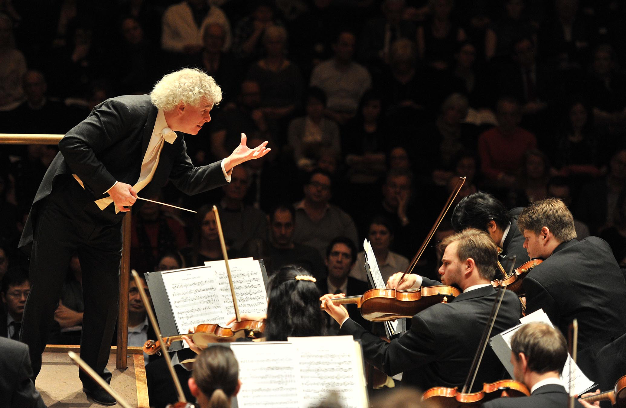 Berliner Philharmoniker and Simon Rattle perform at the Barbican on 21st February 2011. Photographer: Mark Allan.