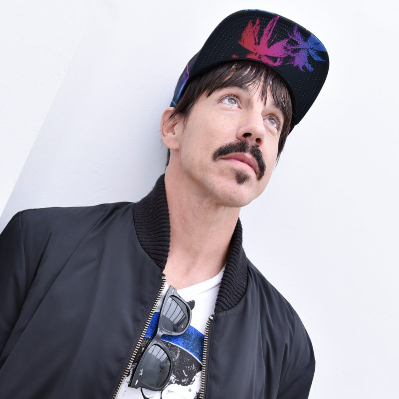 Anthony Kiedis of Red Hot Chilli Peppers at BBC Radio 2, 2016. Loftus Media Photographer: Sarah Jeynes. © BBC.