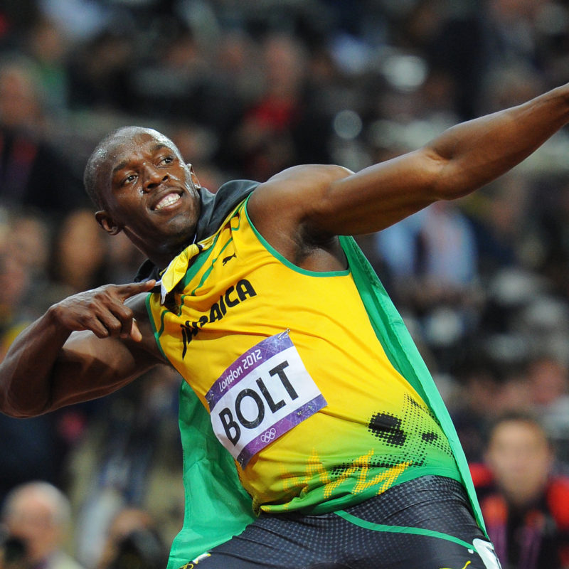 Usain Bolt, London Olympics, 2012. Photographer: Mark Allan.
