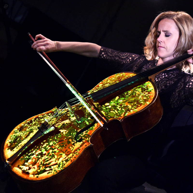 Sol Gabetta performs Elgar's Cello Concerto as part of Cello The Movie for BBC Proms 2016. Loftus Media Photographer: Sarah Jeynes. © BBC.