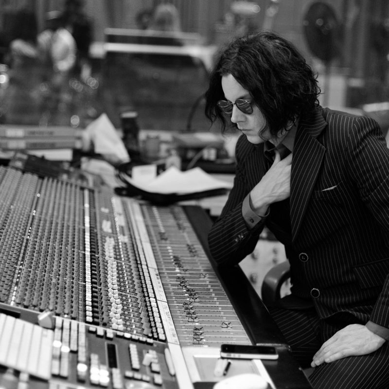 Jack White in session for the Zane Lowe Show on Radio 1 recorded at Studio 3 in Maida Vale on 2nd July 2014.  Loftus Media Photographer: Sarah Jeynes. © BBC.