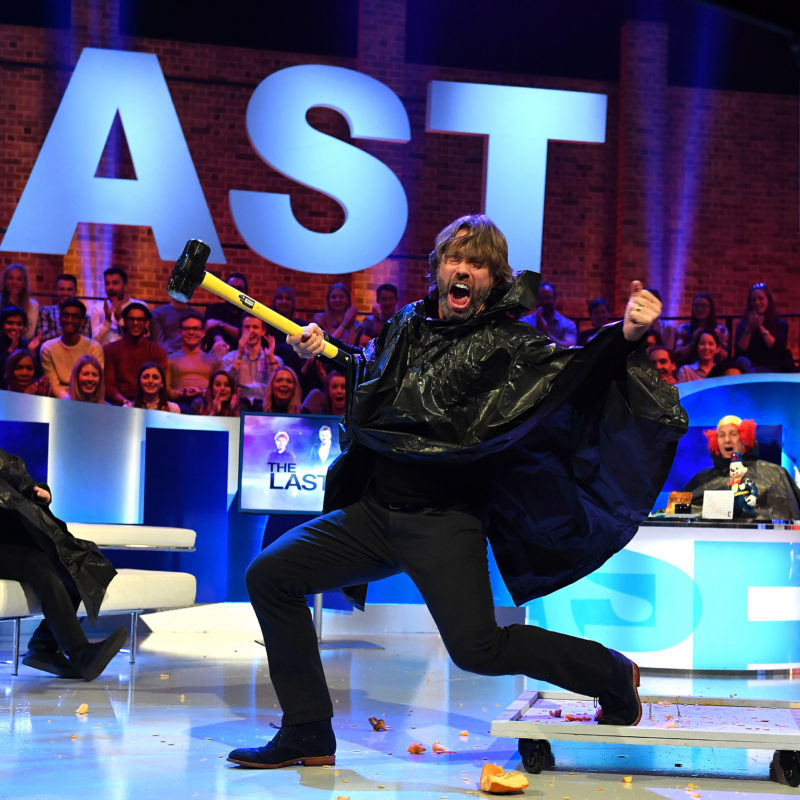 'The Last Leg' Series 9 Episode 2 with guest John Bishop broadcast live on Channel 4 on 14th October 2016.  Photographer: Mark Allan.