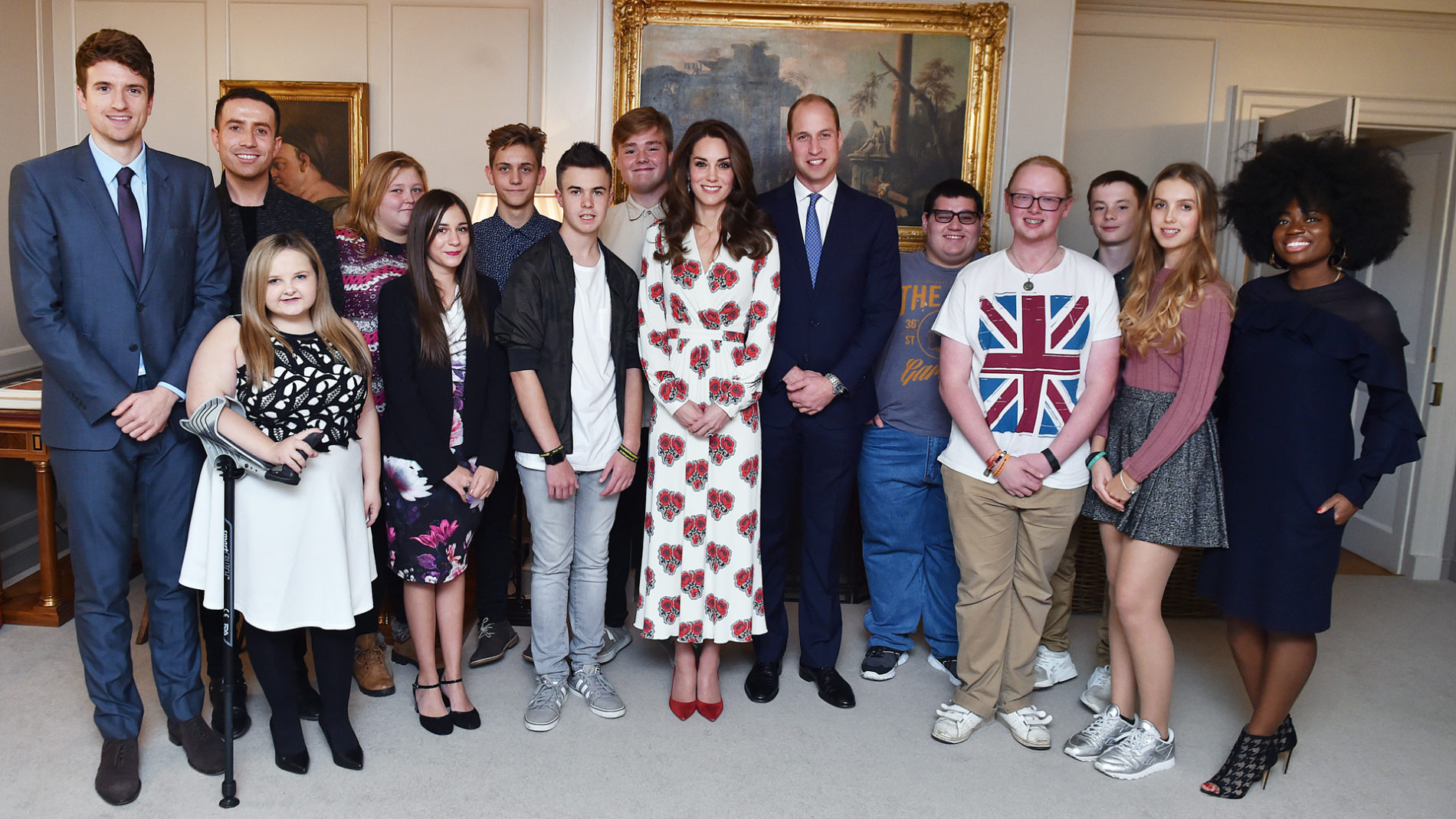 BBC Radio 1 Teen Heroes at Kensington Palace with Clara Amfo, Greg James, Nick Grimshaw, HRH Duke and Duchess of Cambridge, 2016. Photographer: Sarah Jeynes. © BBC.