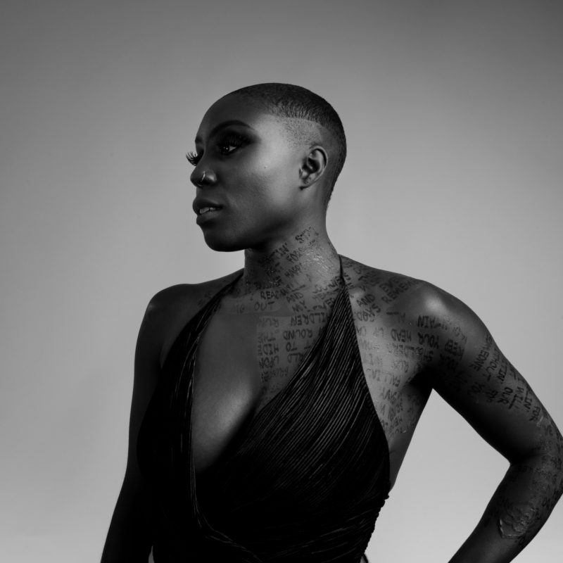 Laura Mvula, backstage at the Mercury Prize, 2016. Photographer: Jamie Simonds.