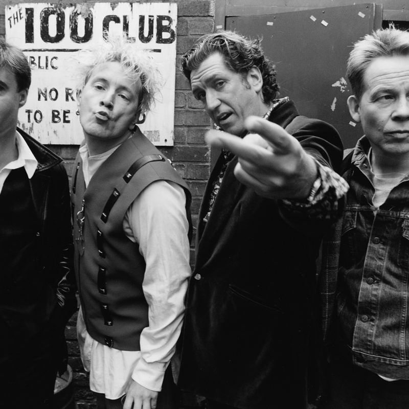 Sex Pistols outside the 100 Club, 1996. Photographer: Mark Allan.