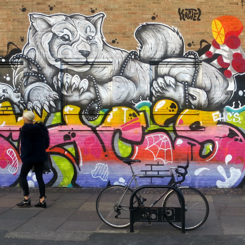 Bethnal Green Road, Shoreditch to illustrate Tate Walks produced by Loftus Media
