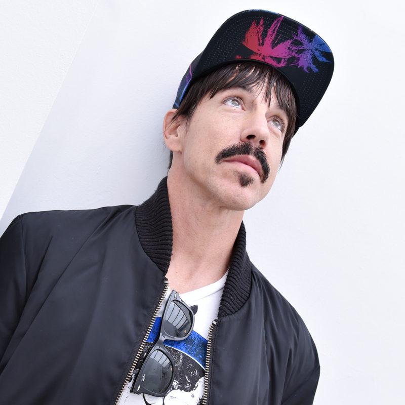 Anthony Kiedis of Red Hot Chilli Peppers at BBC Radio 2, 2016. Loftus Media Photographer: Sarah Jeynes. © BBC.