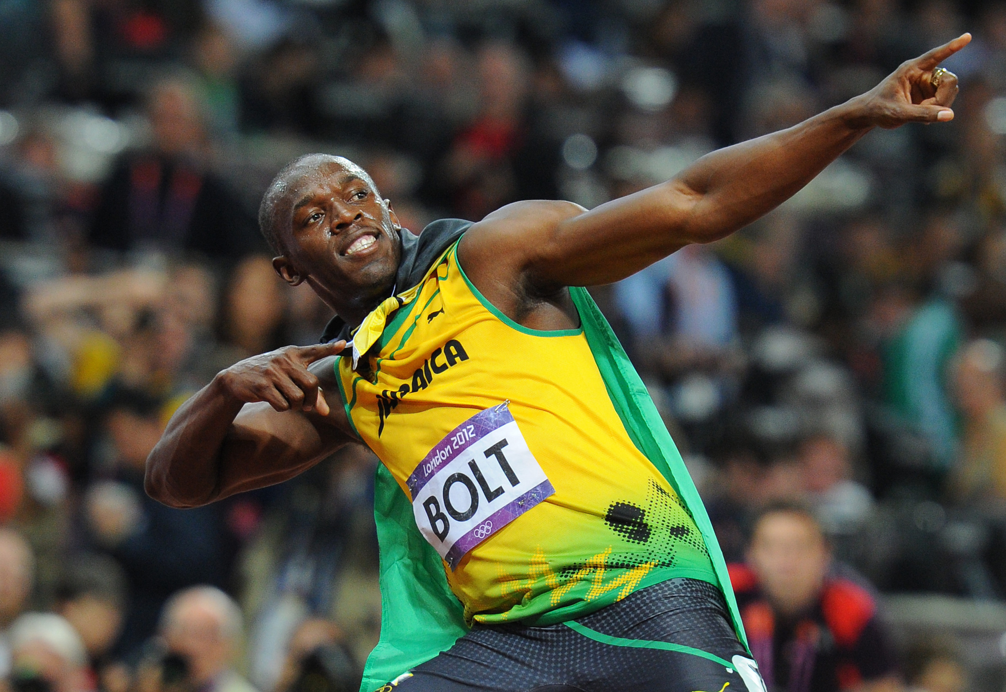 Usain Bolt, London Olympics, 2012. Photographer: Mark Allan.