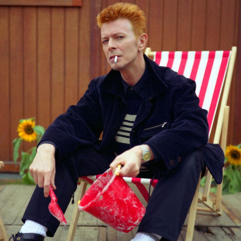 David Bowie, Roskilde Festival, backstage, 1996. Loftus Media Photographer: Mark Allan