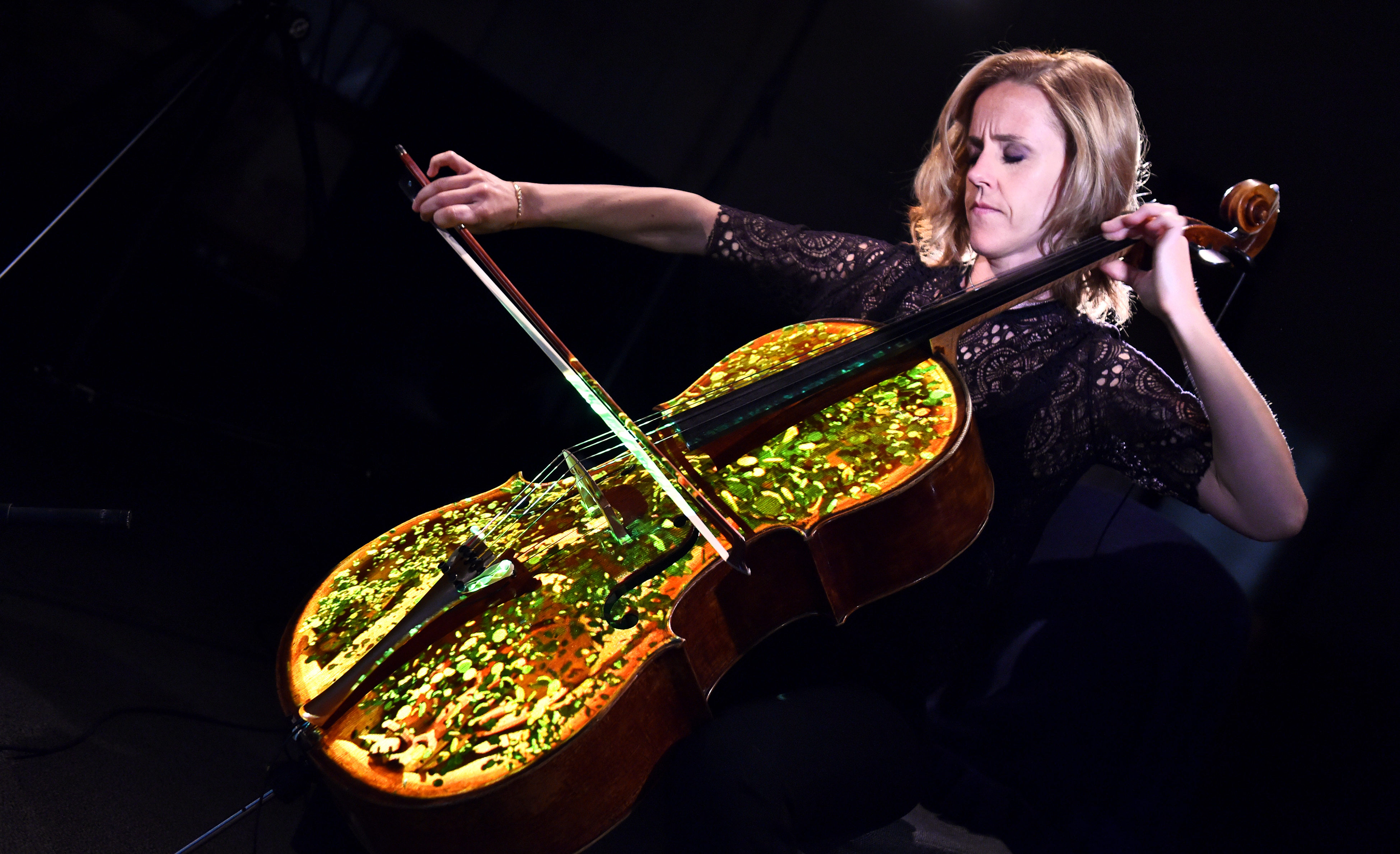 Sol Gabetta performs Elgar's Cello Concerto as part of Cello The Movie for BBC Proms 2016. Loftus Media Photographer: Sarah Jeynes. © BBC.