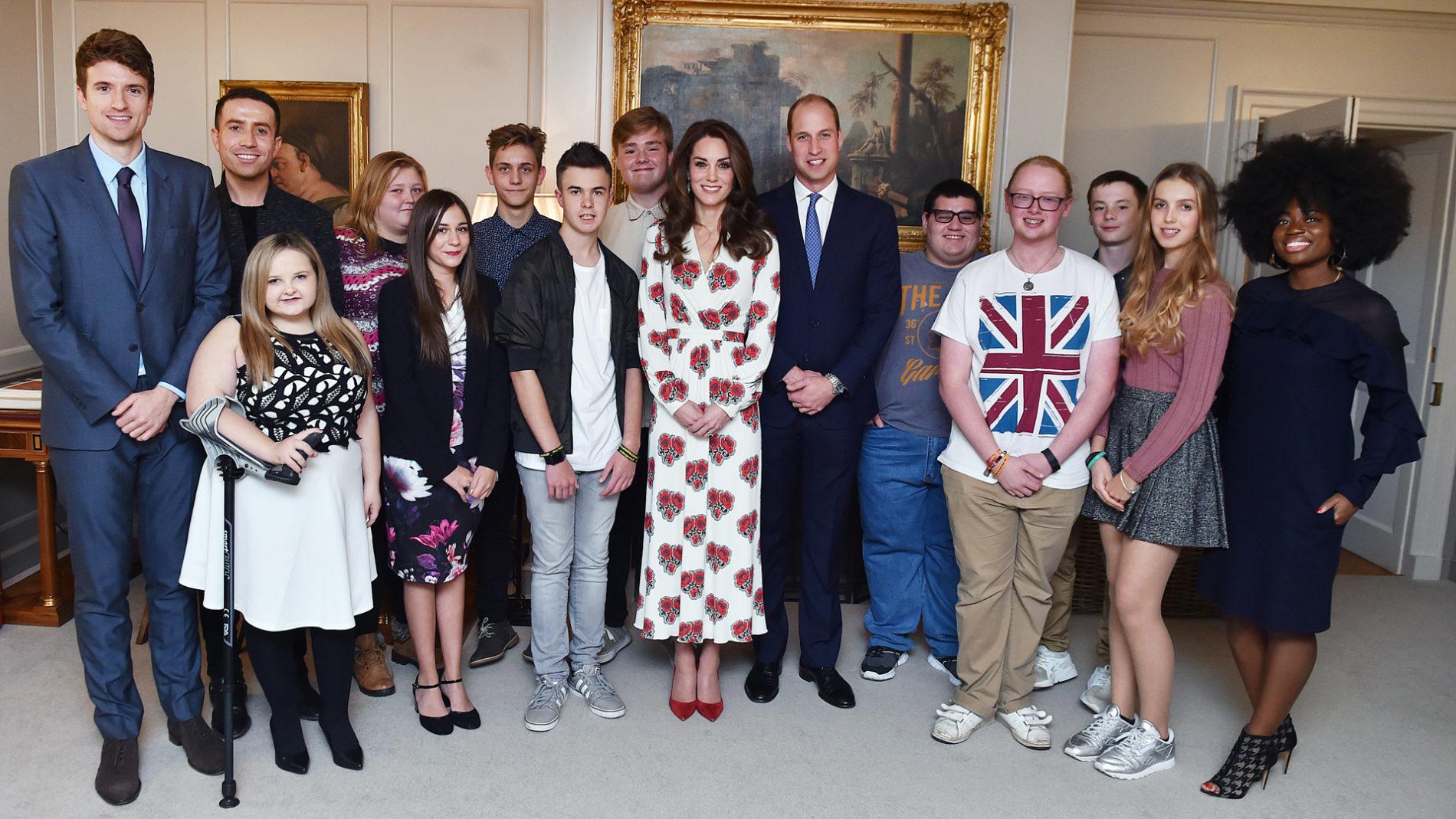 BBC Radio 1 Teen Heroes at Kensington Palace with Clara Amfo, Greg James, Nick Grimshaw, HRH Duke and Duchess of Cambridge, 2016. Loftus Media Photographer: Sarah Jeynes. © BBC.
