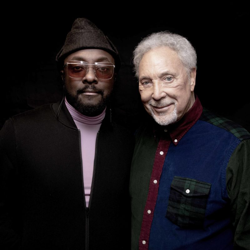Will.i.am and Tom Jones photographed in March 2019 by Loftus photographer Jamie Simonds © BBC