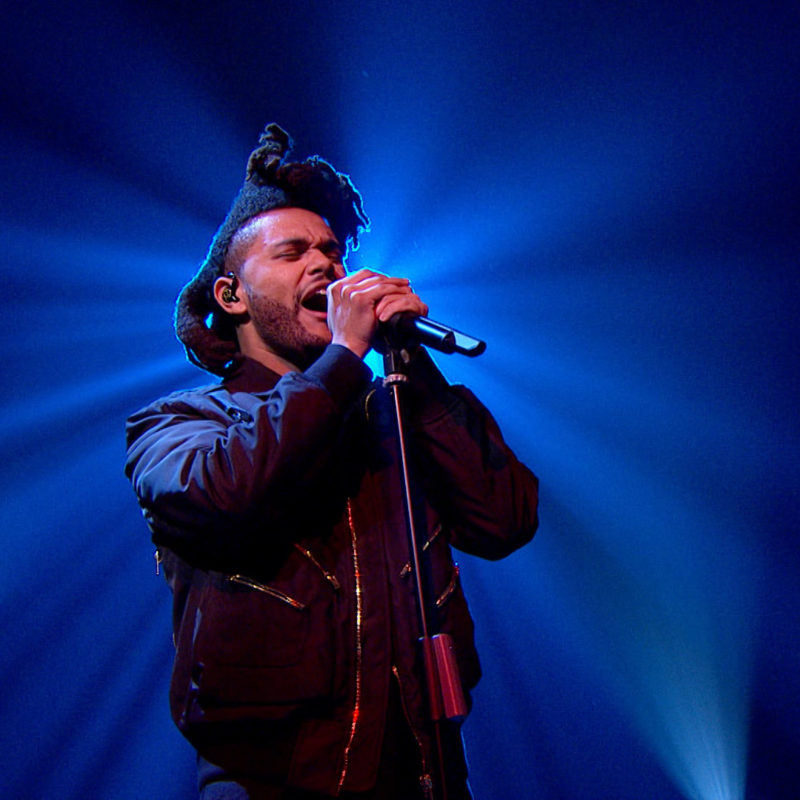 The Weeknd, 'Later...with Jools', BBC Two, 2016. © BBC.