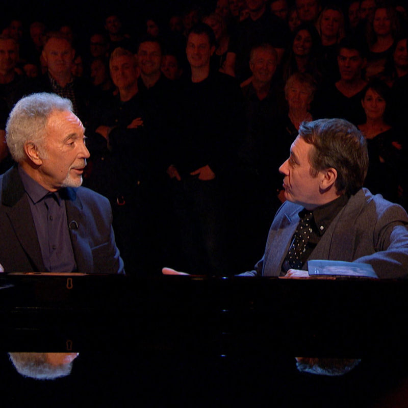 Tom Jones talks to Jools Holland, 'Later...with Jools', BBC Two, 2016. © BBC.
