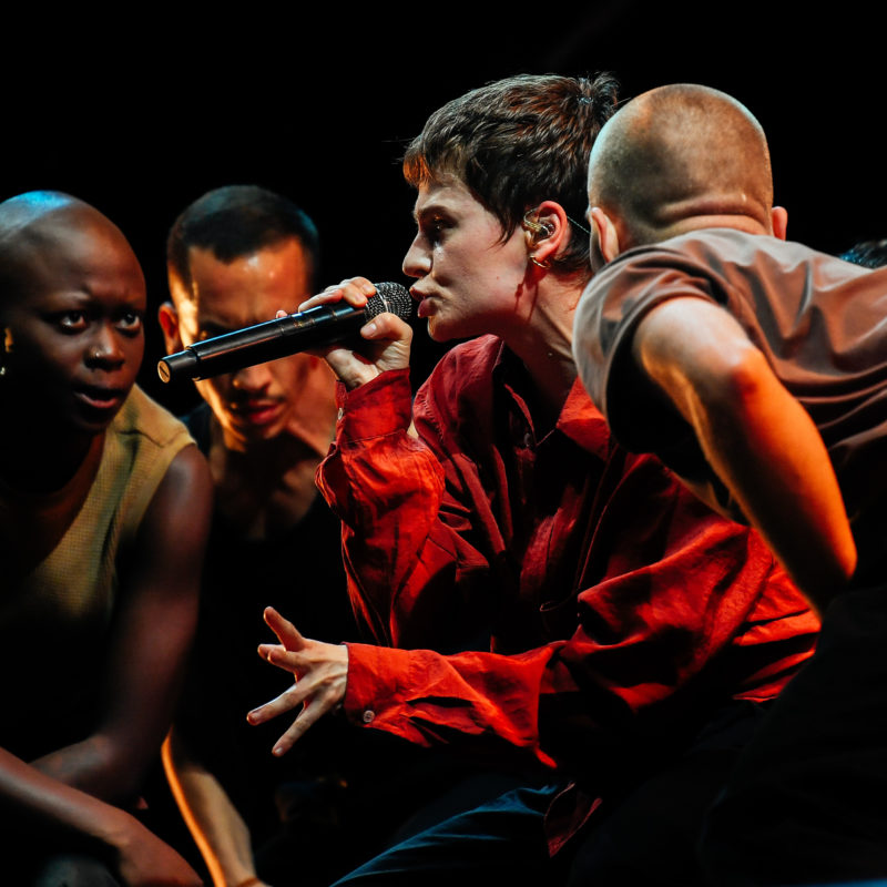 Christine and the Queens, Glastonbury 2019. Photo by Ruth Medjber ©BBC