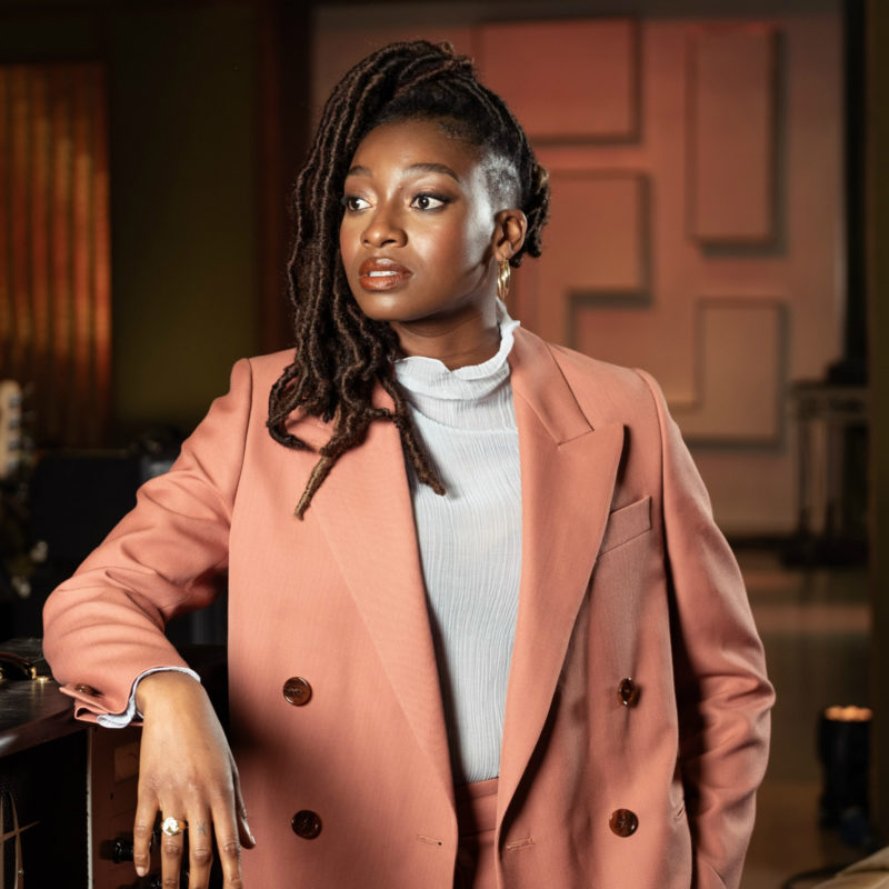 Little Simz captured by Loftus Media photographer Michael Leckie for Later...with Jools Holland TV show © BBC 2019